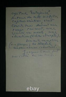 Jacques Chardonne Tres Belle Lettre Autographe Signee A Roger Nimier De 4 Pages