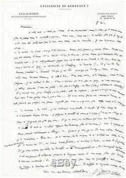 Jacques Ellul / Lettre Autographe Signée / Décroissance / Misère / Marx