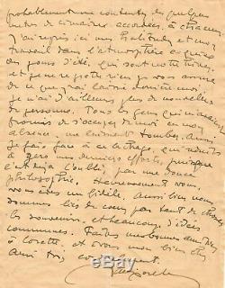 Jacques MAJORELLE / Lettre autographe signée sur la Maroc et sa peinture