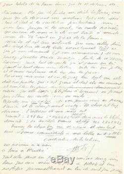 Jacques MESRINE Lettre autographe signée à son avocat. Son incarcération à Mende