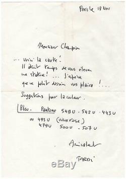 Jacques Tardi / Trois Lettres Autographes Signées (1984)