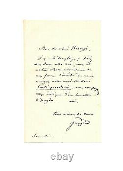 Jean-Auguste-Dominique INGRES / Lettre autographe signée / Haydn / Musique