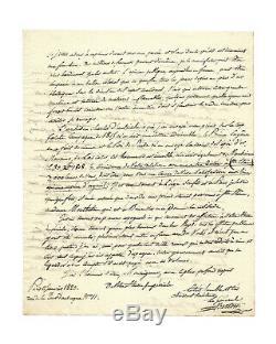 Jean-Baptiste BERTON / Lettre autograhe signée / Napoleon Sainte Helene / 1820