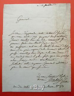 Jean-Baptiste ISABEY Lettre autographe signée au futur maréchal LANNES