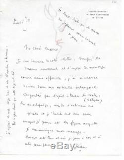 Jean COCTEAU Lettre autographe signée avec dessin