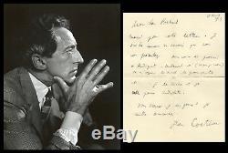 Jean Cocteau (1889-1963) Intéressante lettre autographe signée 17 avril 1923