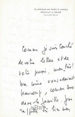Jean DORMESSON / Emouvante lettre autographe signée sur la foi chrétienne. 1975