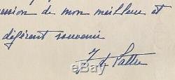 Jean De LATTRE DE TASSIGNY Superbe lettre autographe signée à Paul Valéry 1940