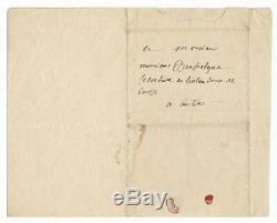 Jean Francois de Galaup de LA PEROUSE / Lettre autographe signée / Départ Brest