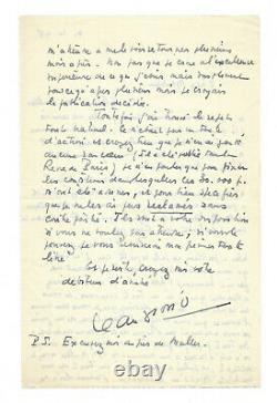 Jean GIONO / Lettre autographe signée / Le Hussard sur le toit / Edition Grasset