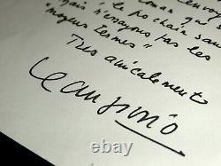 Jean Giono Lettre Autographe Signee Adressee A Roger Nimier Sur Une Publication