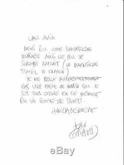 Jean Giraud (Moebius)- Lettre autographe signée Rare