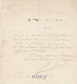 Jean-Léon GÉRÔME lettre autographe signée modèle femme inscription liste