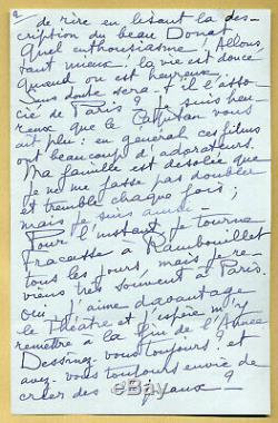 Jean Marais (1913-1998) Longue lettre autographe signée en 1961 4 pages