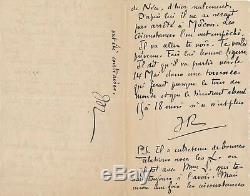Jehan RICTUS (1867-1933), poète Lettre autographe signée adressée à un ami boxe
