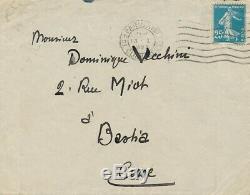 Jehan Rictus lettre autographe signée au poète corse Vecchini coeur populaire