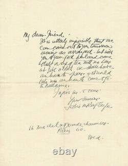 Jessie Marion KING 2 lettres autographes signées en anglais illustratrice bijoux