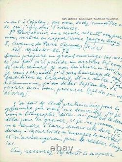 Joan MIRO Lettre autographe signée à André BRETON Exposition Surréalisme