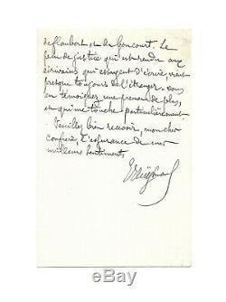 Joris-Karl HUYSMANS / Lettre autographe signée / Flaubert / Wagner / Goncourt