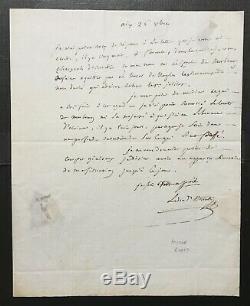 Joseph FOUCHE Lettre autographe signée 1er Empire Duc d'Otrante