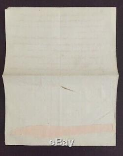 Joseph Fouché Importante lettre signée à Berthier 3e Chouannerie 1799