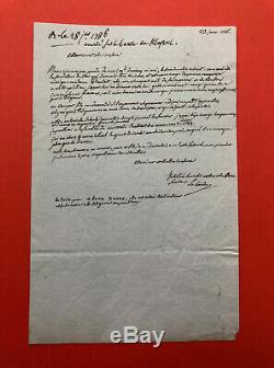 Joseph Jérôme Lefrançois de LALANDE Lettre autographe signée