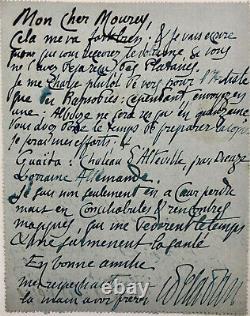 Joséphin PELADAN Lettre autographe signée