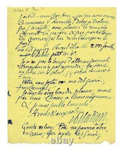 Joséphin PELADAN / Lettre autographe signée / Barbey d'Aurevilly / Poe / Ouvrage
