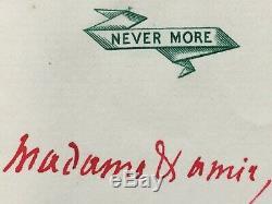 Jules BARBEY D'AUREVILLY Ecrivain Lettre autographe signée