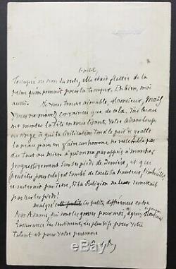 Jules BARBEY D'AUREVILLY Très belle lettre autographe signée à TAINE -Religion