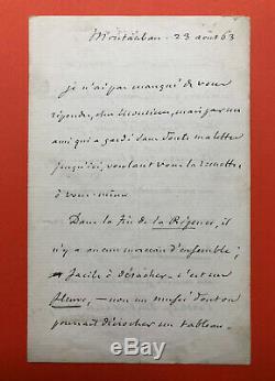 Jules MICHELET Belle lettre autographe signée