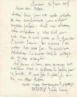 Jules VERNE Lettre autographe signée Une des dernières lettres de sa vie