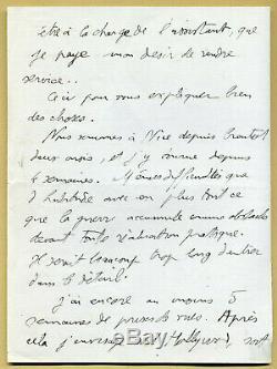 Julien Duvivier (1896-1967) Réalisateur Longue lettre autographe signée 1940