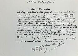 Julien GRACQ Correspondance avec Michel BULTEAU 12 lettres autographes signées