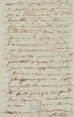 Juliette DROUET Lettre autographe signée à Victor HUGO. 1836