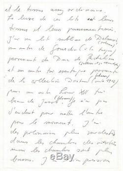 Karl LAGERFELD Lettre autographe signée sur sa collection XVIIIe