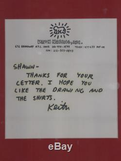 Keith Haring, Lettre Autographe Signee A Shawn, Drawings, Pop Art