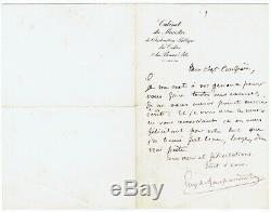L53-guy De Maupassant-lettre Autographe Signée-1879-1882