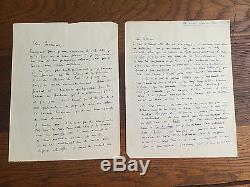 LA TOUR DU PIN (Patrice de). 8 lettres autographes signées, non datées