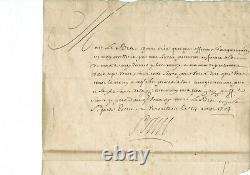 LETTRE AUTOGRAPHE SIGNEE du ROI Louis XIV 14 AOUT 1704