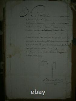 LETTRE AUTOGRAPHE SIGNEE du ROI Louis XV 20 AOUT 1770