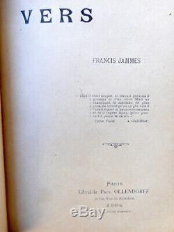 LETTRE ENVOI AUTOGRAPHE Francis JAMMES à GIDE + 2 POEMES AUTOGRAPHES En vers