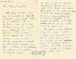 LE CORBUSIER Lettre autographe signée à Albert Laprade. L'architecture en 1940