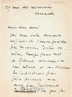 LE SIDANER Henri, Peintre, Lettre Autographe Signée à Léonce Bénédite