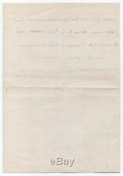 LOTI Pierre (Julien Viaud, dit) Lettre autographe signée 1 page ½ in-8