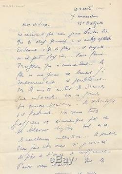 LOUIS-FERDINAND CELINE belle lettre autographe signée sur la nature humaine