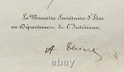 LOUIS-PHILIPPE Roi des Français & Adolphe THIERS document Lettre signée 1835