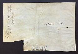 LOUIS XIII Roi de France Lettre signée (secrétaire) Sieur de Marolles 1624