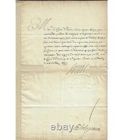 LOUIS XIV. Roi de France. Lettre signée (secrétaire), 1697 (Réf. G 5448)