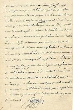 LOUIS XVI / Lettre autographe signée / NECKER / AMELOT / Maison du Roi / 1781